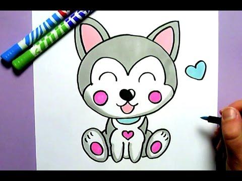 dessin de chien kawaii facile - Les dessins et coloriage