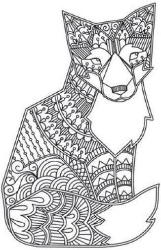 dessin de chien mandala