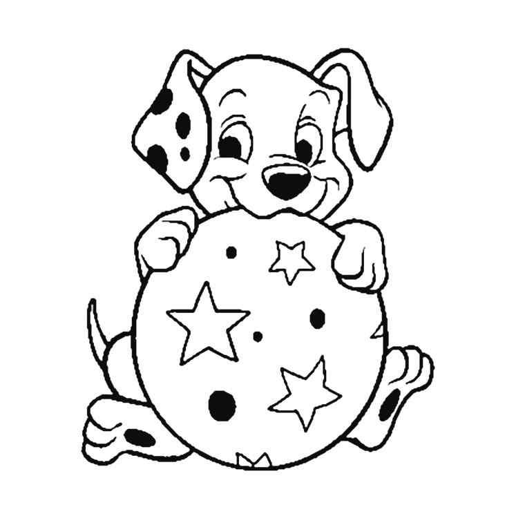 dessin de chien mignon a imprimer