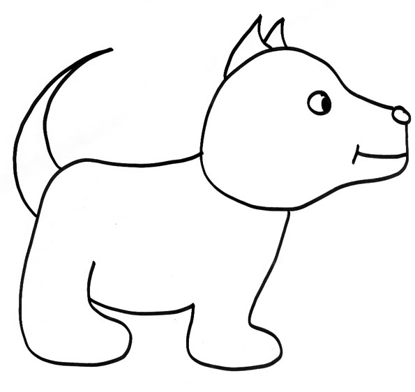 dessin de chien mignon facile