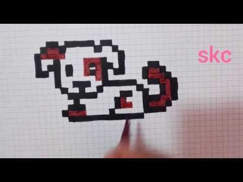 Dessin Pixel Art Facile Chien