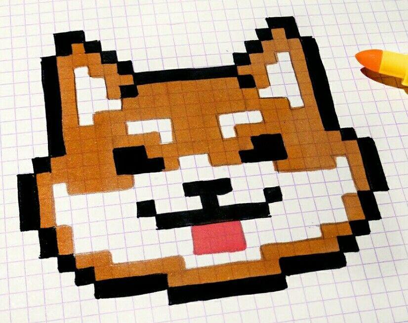 Pixel Art De Chien Facile Arparis
