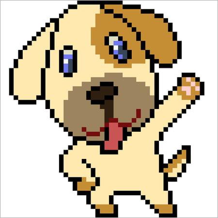 dessin de chien pixel art