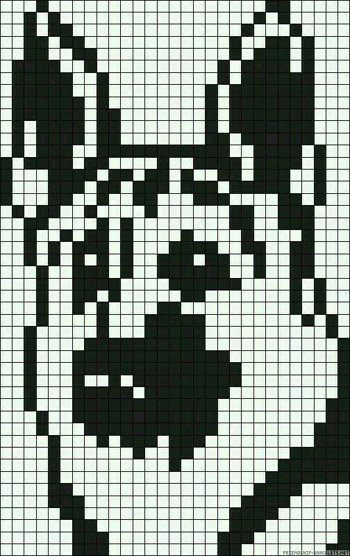 Pixel Art Chien Facile