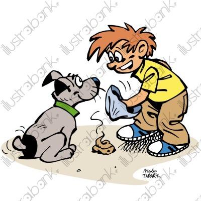 Dessin Humoristique Chien dessin de chien qui fait caca - les dessins et coloriage