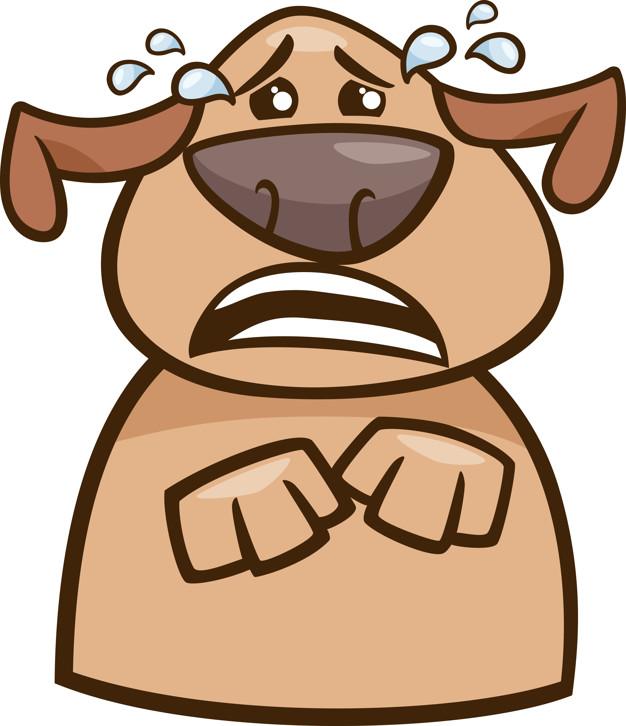 dessin de chien qui pleure