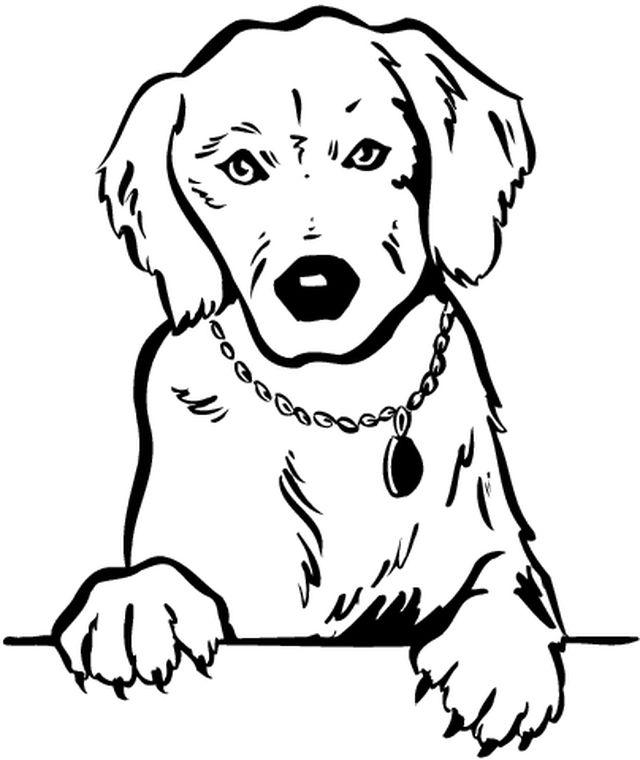 dessin de chien trop mignon a imprimer gratuit - Les ...