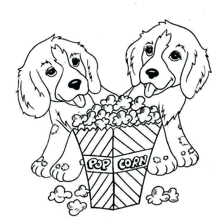 dessin de chien trop mignon a imprimer