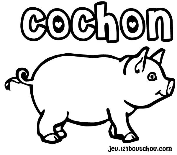 Coloriage De Cochon Gratuit.Dessin De Cochon Les Dessins Et Coloriage