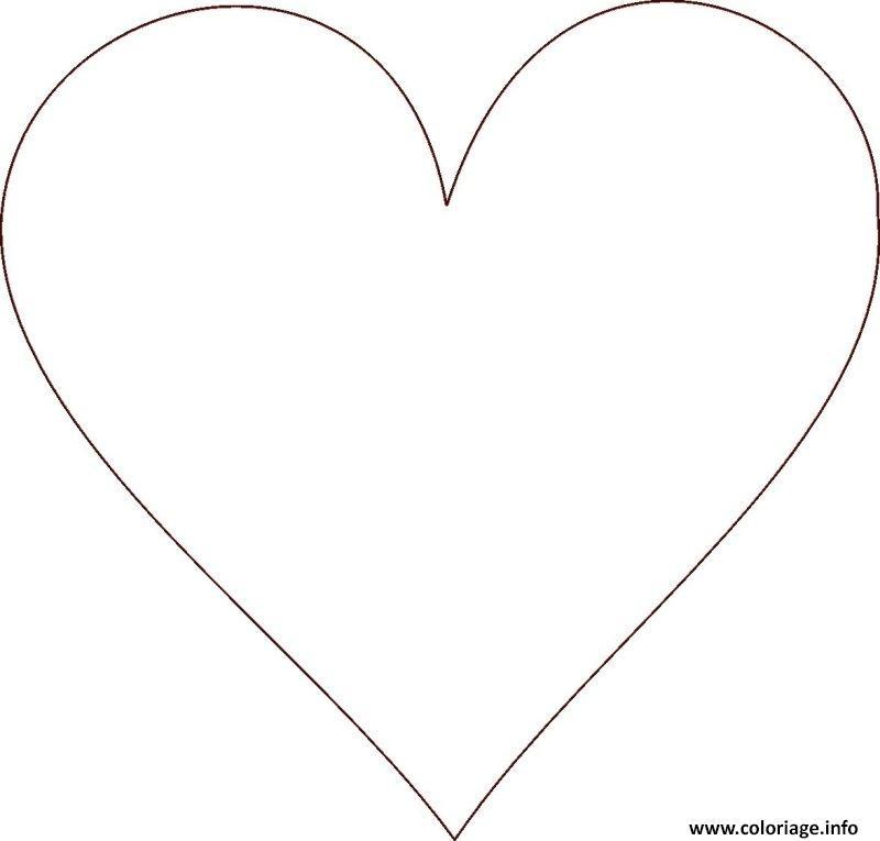 Dessin De Coeur A Imprimer Les Dessins Et Coloriage