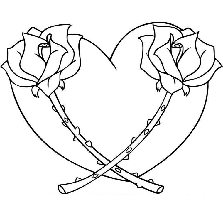 Coloriage Coeur Amour Gratuit.Dessin De Coeur Les Dessins Et Coloriage