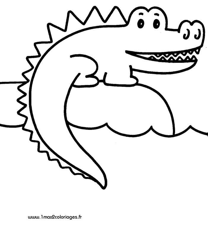 Coloriage Gratuit Crocodile.Dessin De Crocodile Les Dessins Et Coloriage