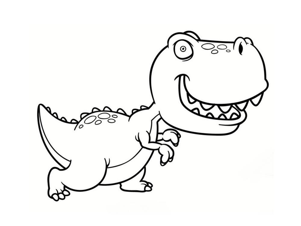 dessin de dinosaure a imprimer - Les dessins et coloriage