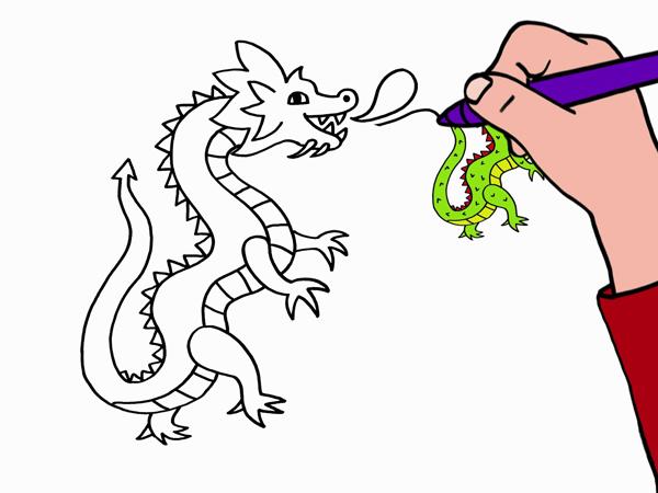 Dessin De Dragon Facile Les Dessins Et Coloriage