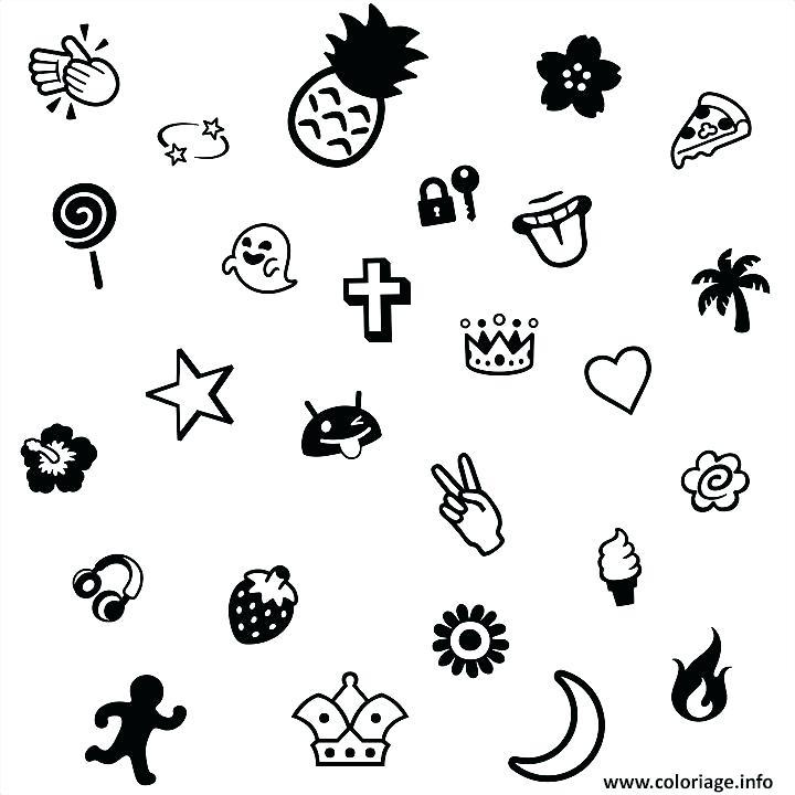 Dessin De Emoji A Imprimer Les Dessins Et Coloriage
