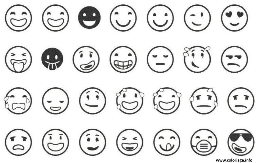 Dessin De Emoji Les Dessins Et Coloriage