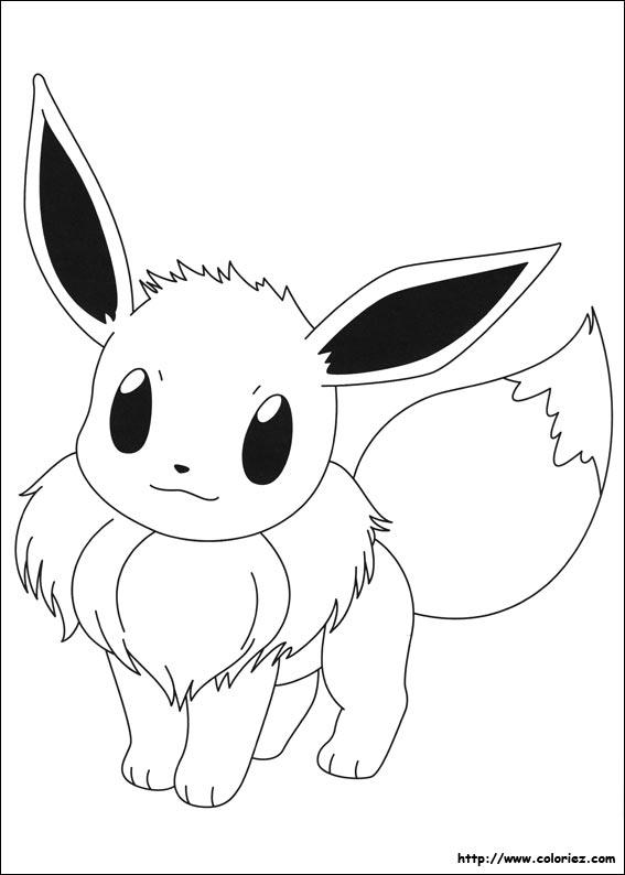 Coloriage Pokemon Famille Evoli.Dessin De Evoli Les Dessins Et Coloriage