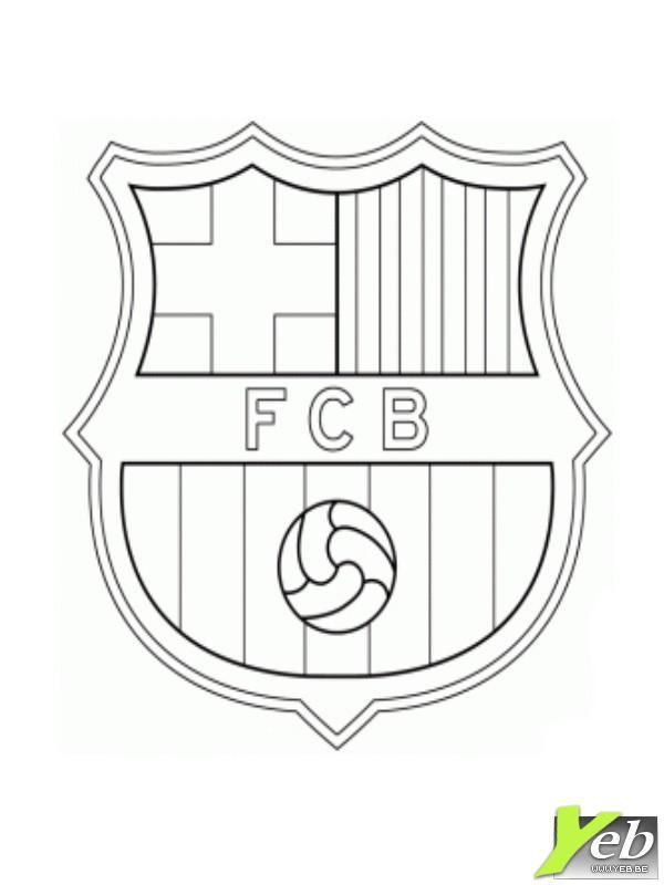 Coloriage Football Fcb.Dessin De F C Barcelona Les Dessins Et Coloriage