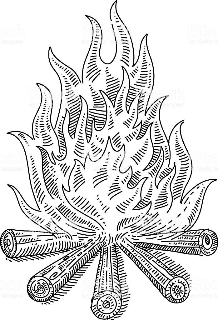 dessin de feu - Les dessins et coloriage