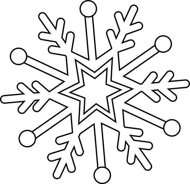 dessin de flocon de neige
