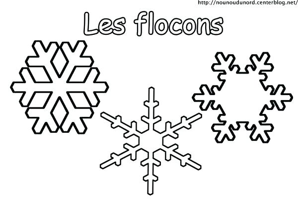 dessin de flocon