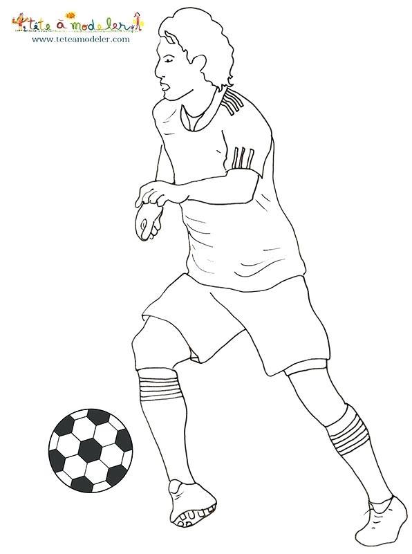 Dessin De Footballeur Les Dessins Et Coloriage