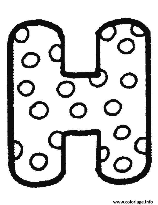 dessin de h