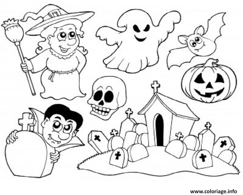 Dessin De Halloween Facile Les Dessins Et Coloriage