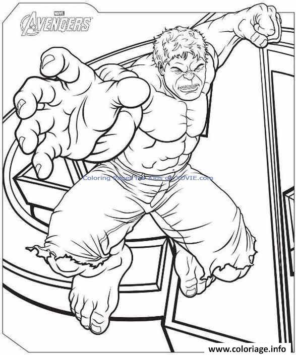 Dessin De Hulk Les Dessins Et Coloriage