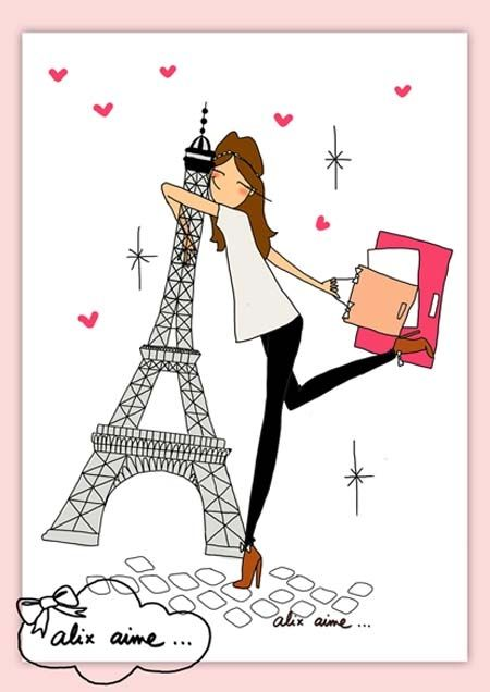 dessin de i love paris