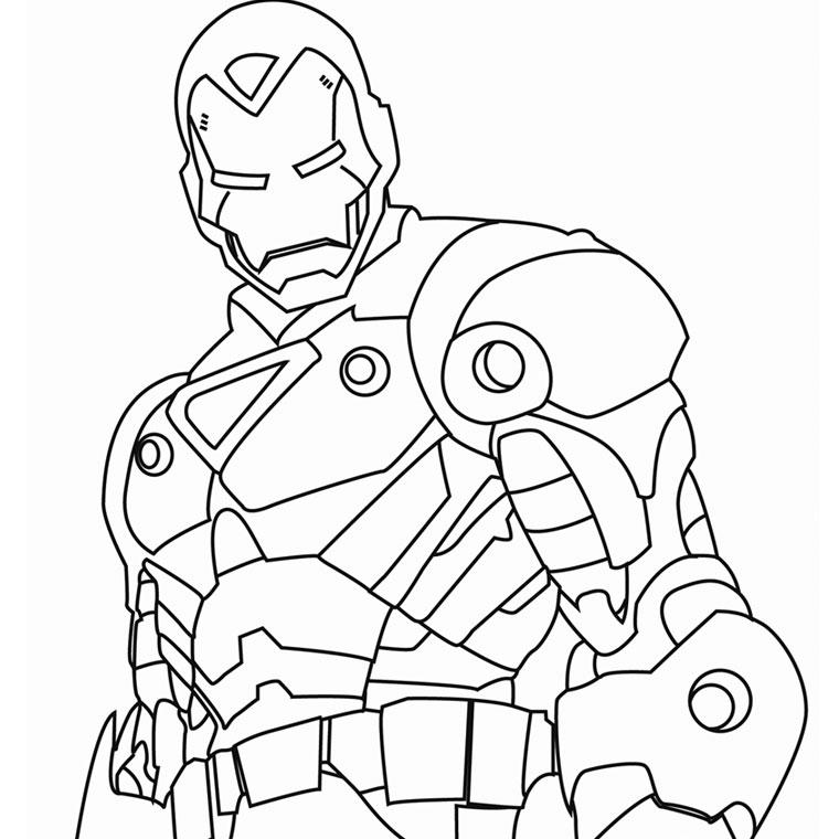 dessin de iron man a imprimer