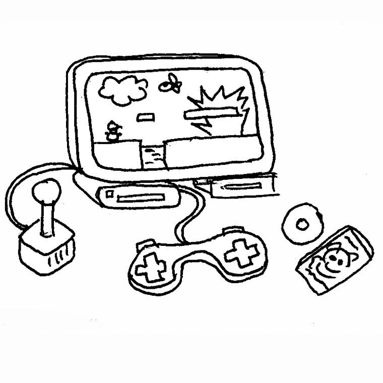 dessin de jeux videos - Les dessins et coloriage