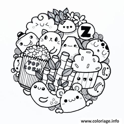 Dessin De Kawaii A Imprimer Les Dessins Et Coloriage