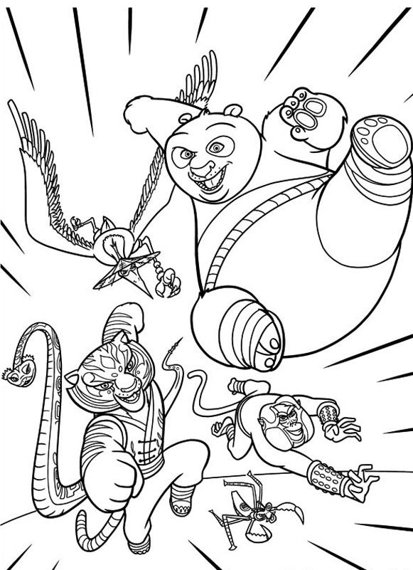 dessin de kung fu panda