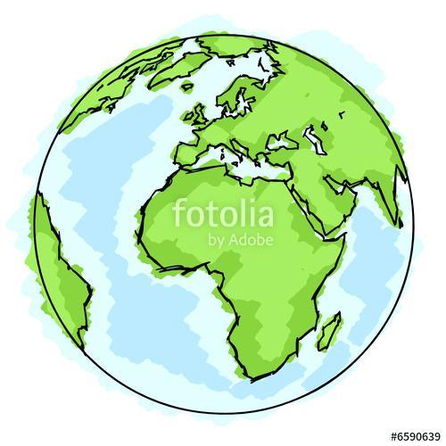 dessin de la terre