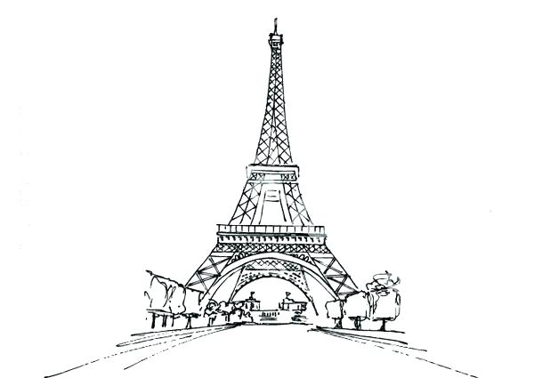Coloriage A Imprimer Tour Eiffel.Dessin De La Tour Eiffel Les Dessins Et Coloriage
