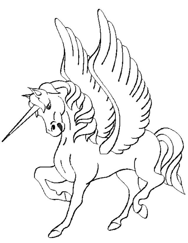 dessin de licorne a imprimer