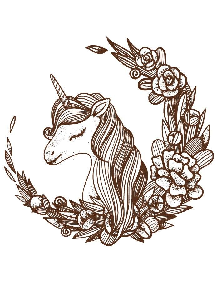 dessin de licorne - Les dessins et coloriage