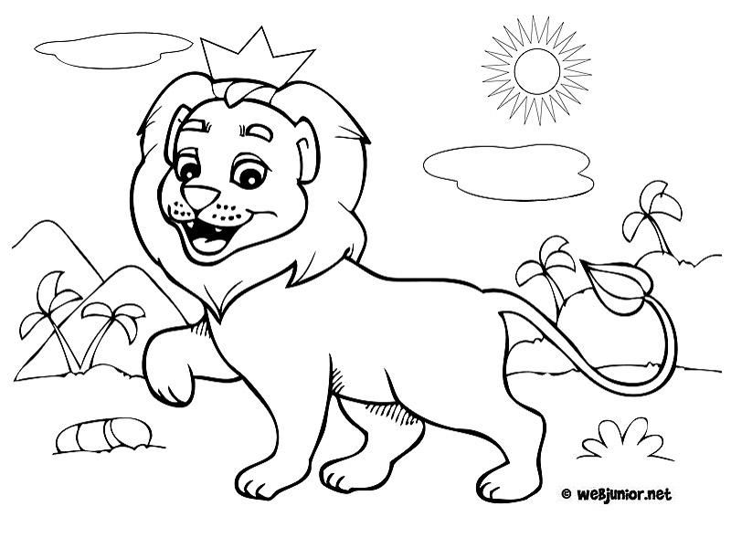 Dessin De Lion Les Dessins Et Coloriage