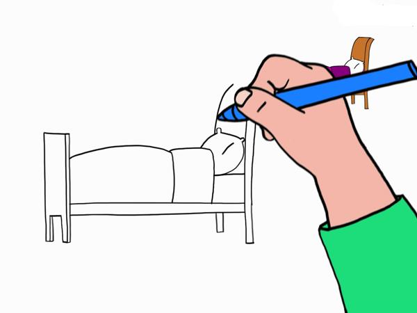 dessin de lit - Les dessins et coloriage