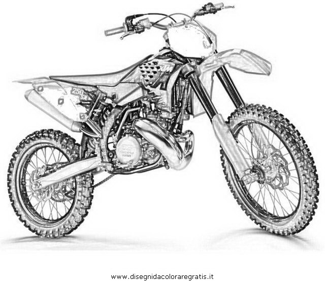dessin de moto cross - Les dessins et coloriage