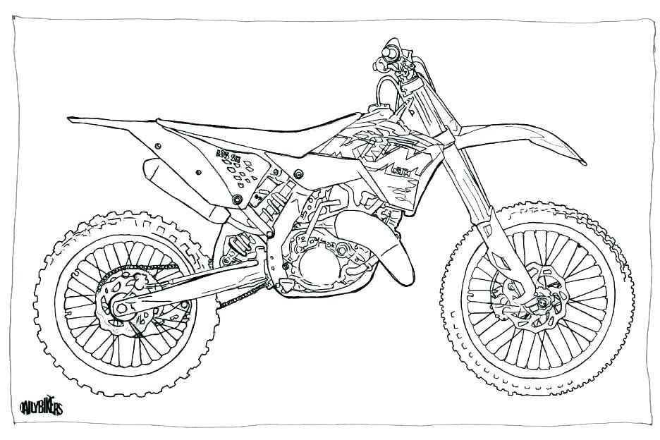 Dessin De Moto Cross Les Dessins Et Coloriage