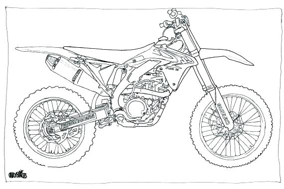 Dessin De Moto Cross Les Dessins Et Coloriage