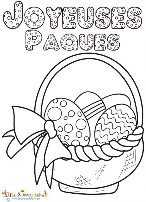 dessin de paques a imprimer - Les dessins et coloriage