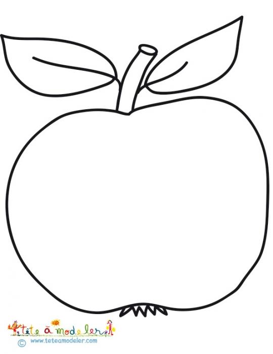 dessin de pomme