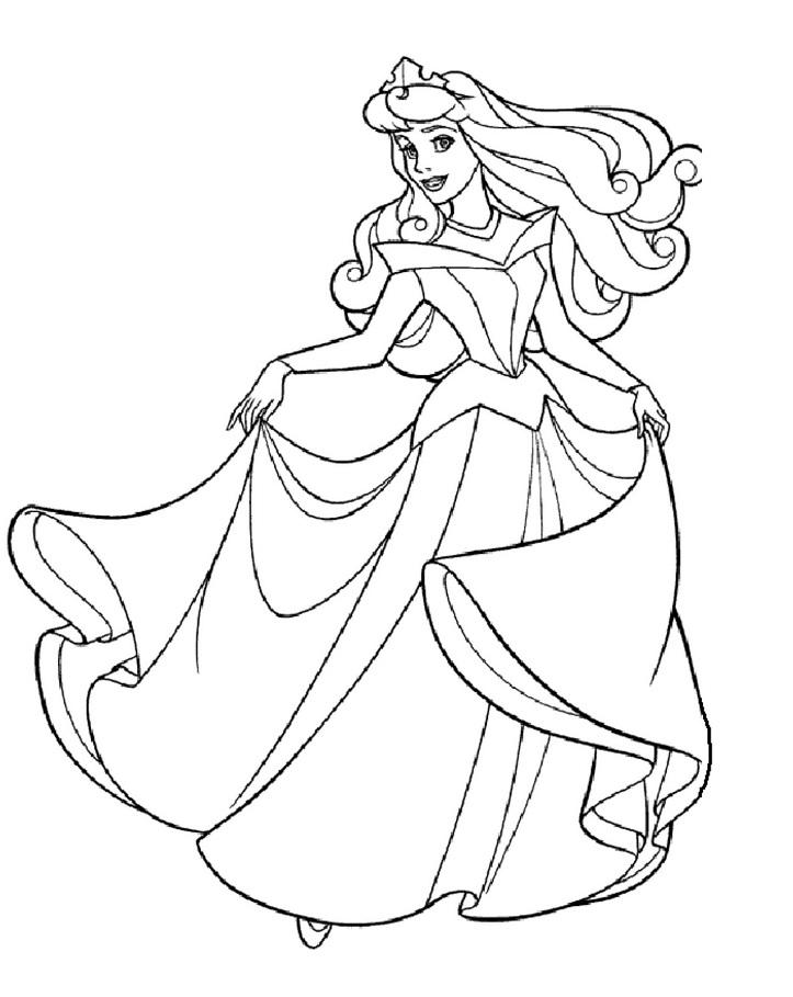 Coloriage Princesse Grand Format.Dessin De Princesse A Imprimer Les Dessins Et Coloriage
