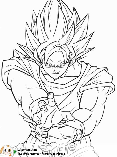 dessin de sangoku - Les dessins et coloriage