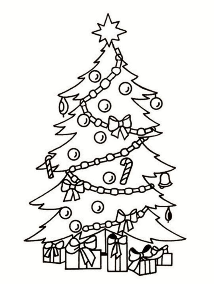 Coloriage Sapin De Noel à Imprimer.Dessin De Sapin Les Dessins Et Coloriage
