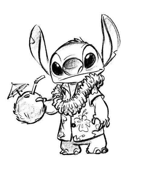 dessin de stitch - Les dessins et coloriage