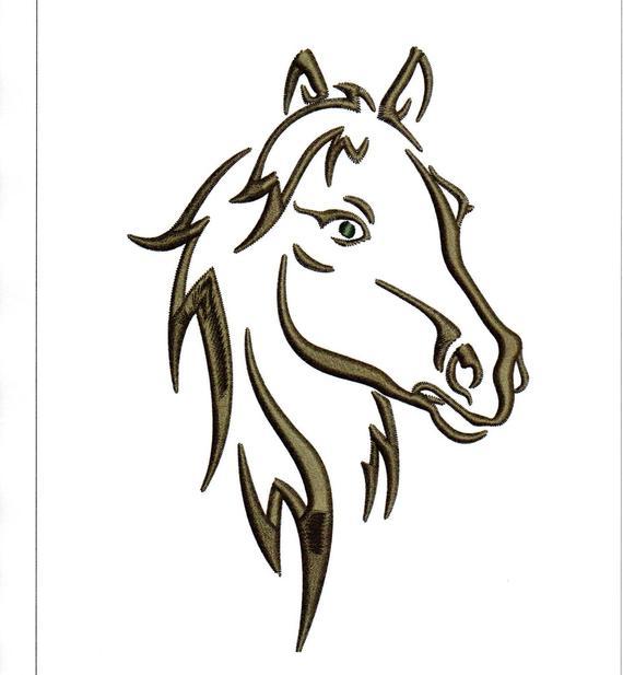 dessin de tete de cheval